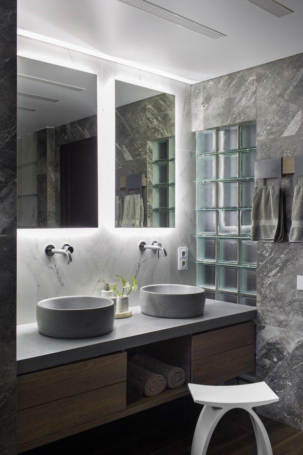 Фотография: Ванная в стиле Лофт, Квартира, Проект недели, Пентхаус, 4 и больше, Более 90 метров, Владивосток, #эксклюзивныепроекты, Miyao Studio – фото на INMYROOM