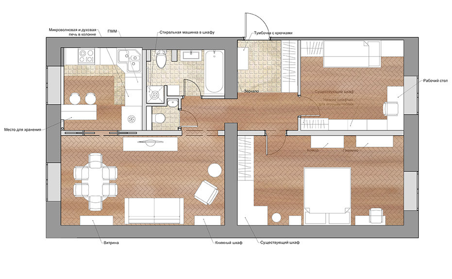 Фотография: в стиле , Классический, Квартира, Проект недели, Студия 3.14, Сталинка, 3 комнаты, 60-90 метров – фото на InMyRoom.ru