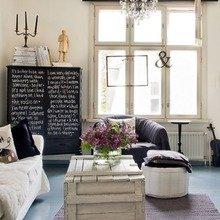 Фотография: Гостиная в стиле Кантри, Скандинавский, Декор интерьера, Мебель и свет – фото на InMyRoom.ru