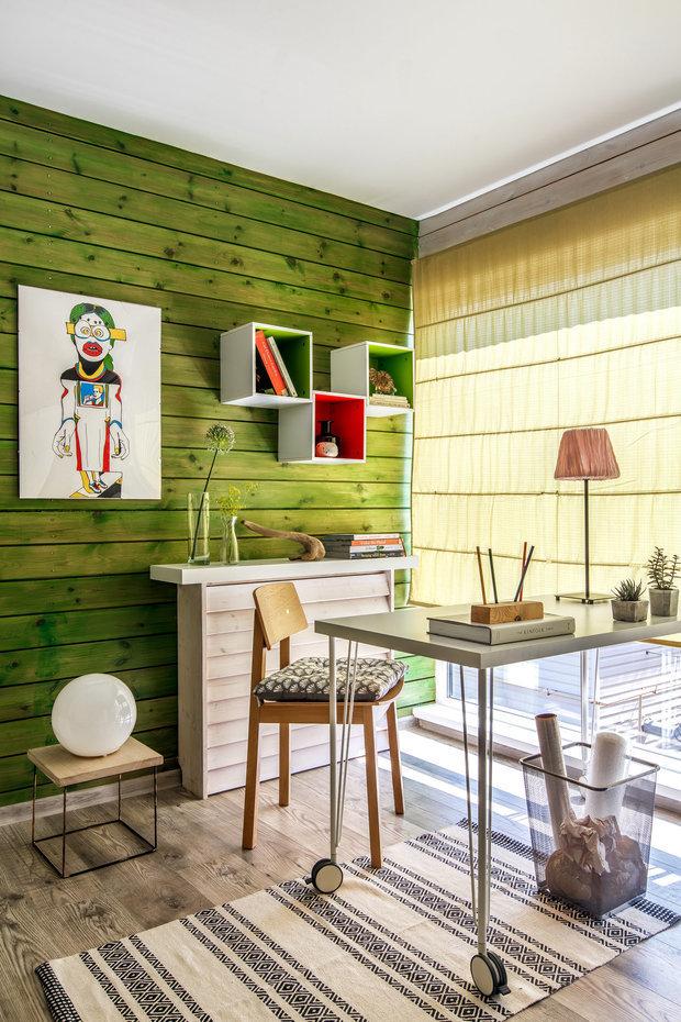 Фотография: Кабинет в стиле Эко, Гид, Belinka, как покрасить дачу, дачные домики – фото на INMYROOM