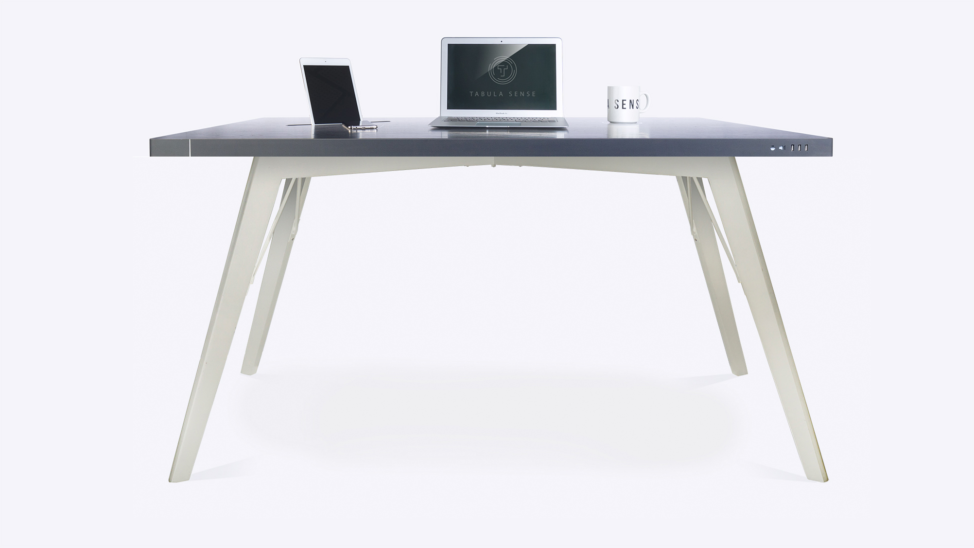 Стол стандартный Tabula Sense Smart Desk Birch черный/белый
