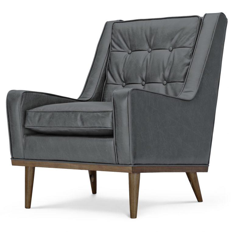 Купить со скидкой Кресло Scott серое из экокожи