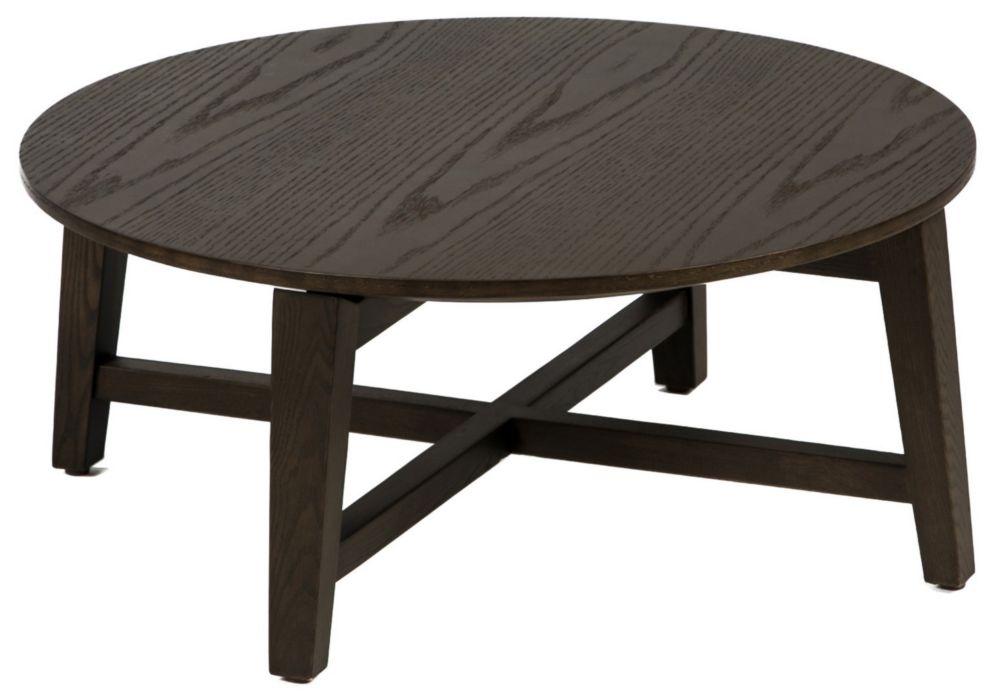 Купить Стол журнальный Trisиз дерева круглой формы, inmyroom
