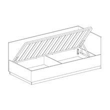 Кровать односпальная с подъёмным механизмом Uno 90х200