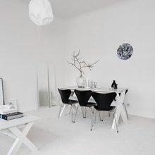 Фото из портфолио Белоснежный интерьер с ярким синим акцентом – фотографии дизайна интерьеров на INMYROOM