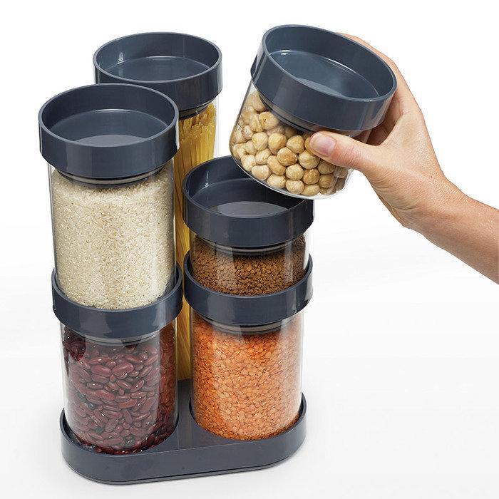 Набор ёмкостей для хранения круп food store™ carousel серый