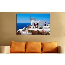 Декоративная картина на холсте: Вилла у моря