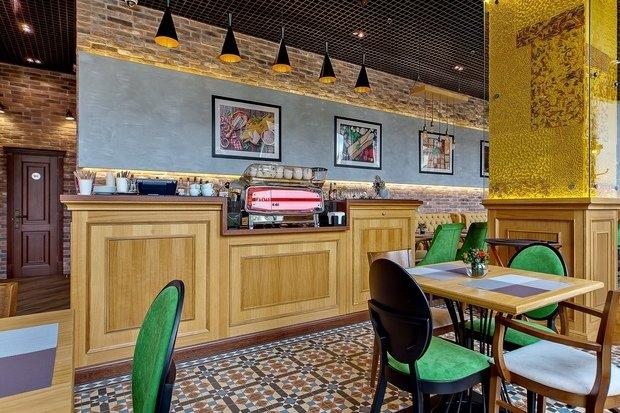 """Фото из портфолио Реализованный дизайн-проект кафе """"La Pasta"""" – фотографии дизайна интерьеров на INMYROOM"""