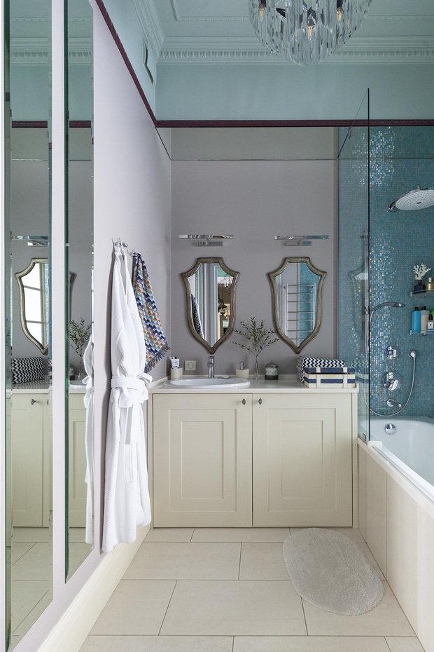 Фотография: Ванная в стиле Классический, Современный, Квартира, Проект недели, Москва, Кирпичный дом, 2 комнаты – фото на INMYROOM