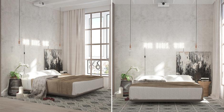 Фотография: Спальня в стиле Классический, Эклектика, Декор интерьера, Квартира, Белый, Проект недели, Бежевый – фото на InMyRoom.ru
