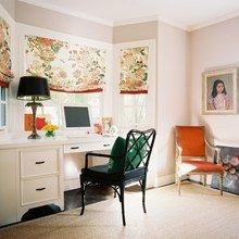 Фотография: Офис в стиле Кантри, Классический, Современный, Гостиная, Интерьер комнат, Тема месяца, Шторы – фото на InMyRoom.ru