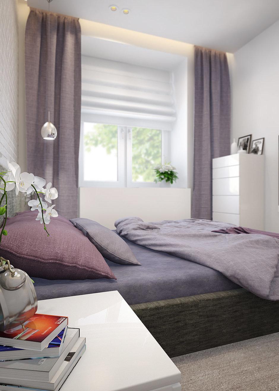 Фотография: Спальня в стиле Современный, Минимализм, Эклектика, Квартира, Проект недели – фото на InMyRoom.ru