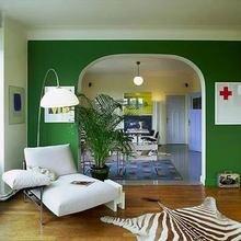 Фотография: Гостиная в стиле Эклектика, Декор интерьера, Дизайн интерьера, Цвет в интерьере, Стены – фото на InMyRoom.ru