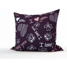 Диванная подушка: Фиолетовая любовь