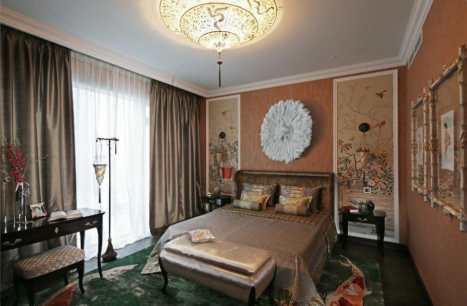 Фотография: Спальня в стиле Восточный, Дизайн интерьера, Проект недели – фото на InMyRoom.ru
