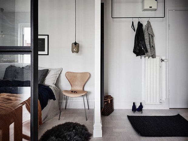 Фотография: Спальня в стиле Скандинавский, Декор интерьера, Квартира, Студия, до 40 метров – фото на InMyRoom.ru