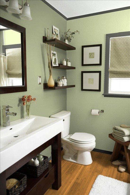 Фотография: Ванная в стиле Эклектика, Декор интерьера, Дизайн интерьера, Цвет в интерьере, Белый, Синий, Серый – фото на InMyRoom.ru