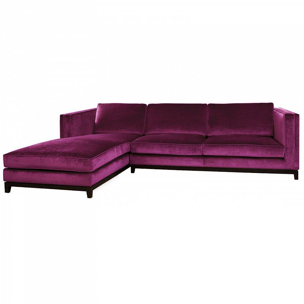 Купить со скидкой Диван-кровать Simba с обивкой фиолетового цвета