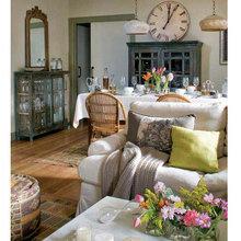 Фотография: Гостиная в стиле Кантри, Современный, Декор интерьера, Часы, Декор дома – фото на InMyRoom.ru