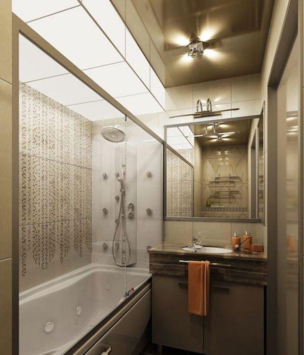 Дизайн в ванной маленькой