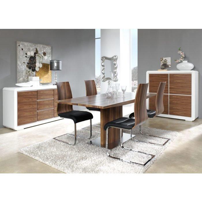 Большой прямоугольный обеденный стол DUPEN (раздвижной)