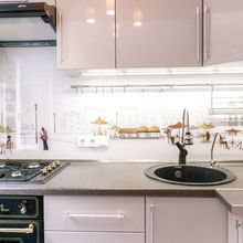 Фото из портфолио Оптимизация и визуальное расширение пространства маленькой кухни – фотографии дизайна интерьеров на INMYROOM