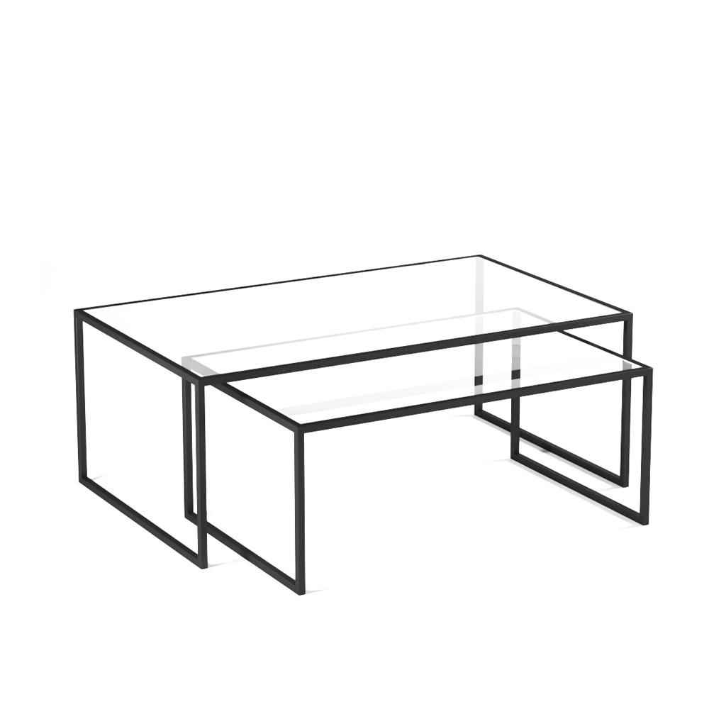 Купить Комплект из двух журнальных столов Set 1 Black, inmyroom, Россия