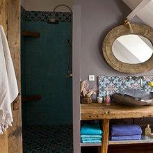 Фотография: Ванная в стиле Кантри, Квартира, Дома и квартиры, Париж – фото на InMyRoom.ru