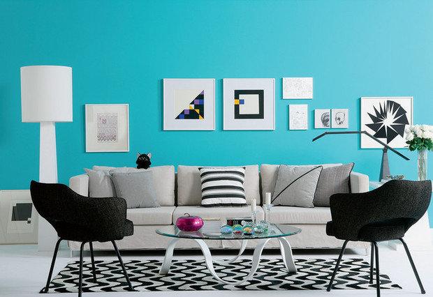 Фотография: Гостиная в стиле Скандинавский, Эклектика, Декор интерьера, Дизайн интерьера, Цвет в интерьере, Dulux, ColourFutures, Akzonobel – фото на InMyRoom.ru