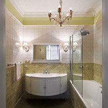 Фотография: Ванная в стиле Кантри, Классический, Квартира, Проект недели – фото на InMyRoom.ru