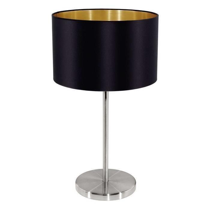 Настольная лампа Maserlo с черным абажуром