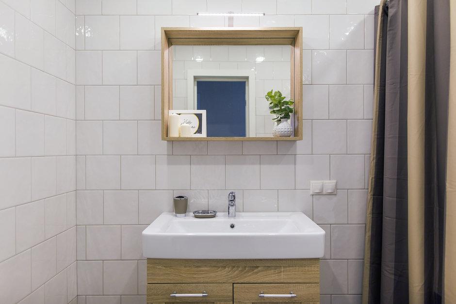 Фотография: Ванная в стиле Скандинавский, Современный, Квартира, Проект недели, Одинцово, Кирпичный дом, 2 комнаты, 60-90 метров, Flatforfox – фото на InMyRoom.ru