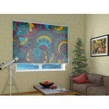 Рулонные шторы в гостиную: Цветочные круги