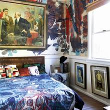 Фотография: Спальня в стиле Лофт, Эклектика, Дома и квартиры, Интерьеры звезд – фото на InMyRoom.ru
