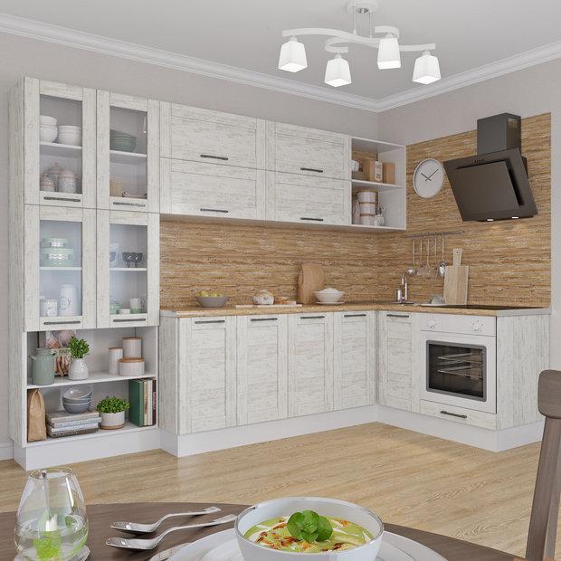 Светлая кухня «Фрейм», Leroy Merlin