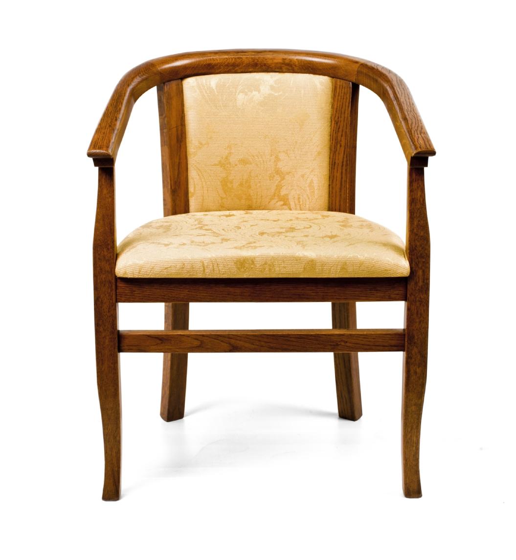 Купить Венский стул с ручками из массива дуба и ткани, inmyroom, Великобритания