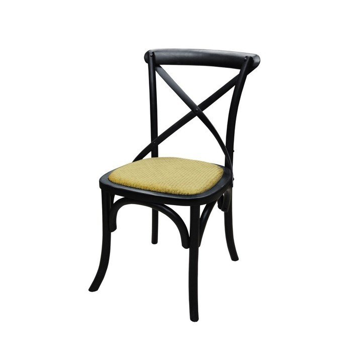 Стул с твердым сиденьем без подлокотника