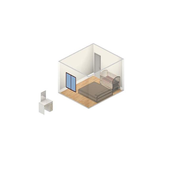Помогите расставить мебель.