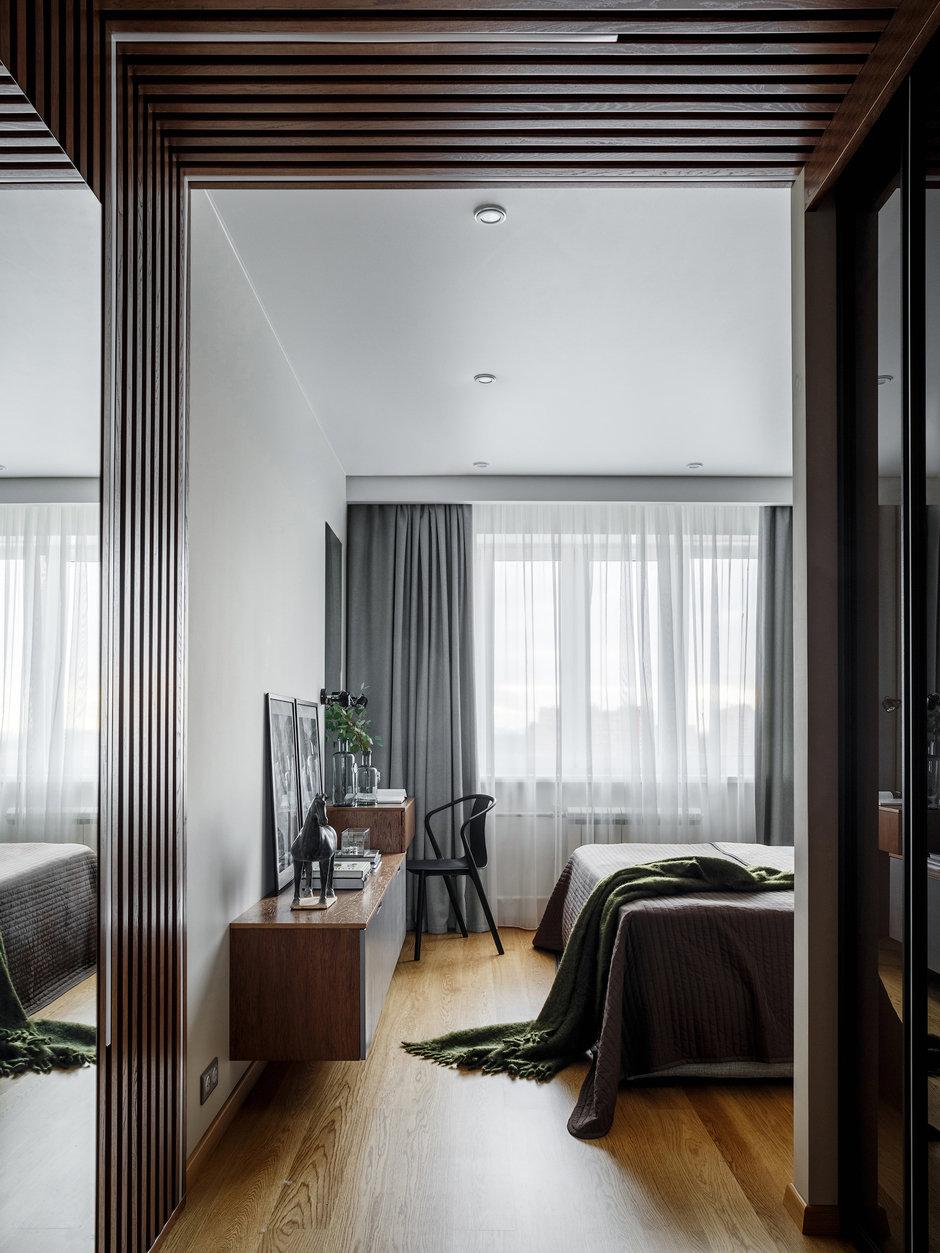 Фотография: Спальня в стиле Современный, Квартира, Проект недели, Московская область, Монолитный дом, 3 комнаты, Более 90 метров, Ксения Коновалова – фото на InMyRoom.ru