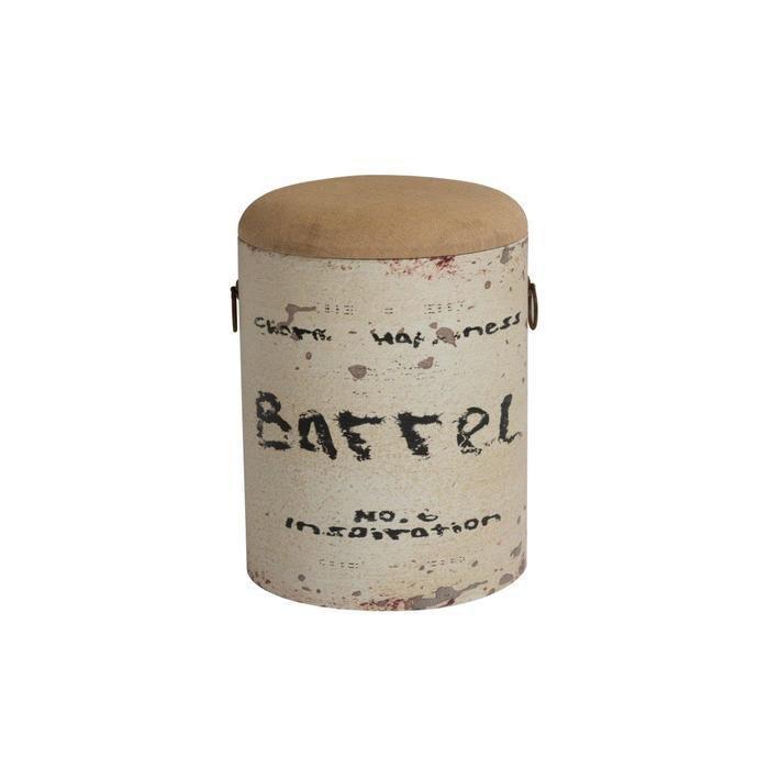 Столик-табурет Barrel White