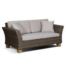 """диван двухместный """"Феррара """" серо - коричневый с деревянными ножками"""
