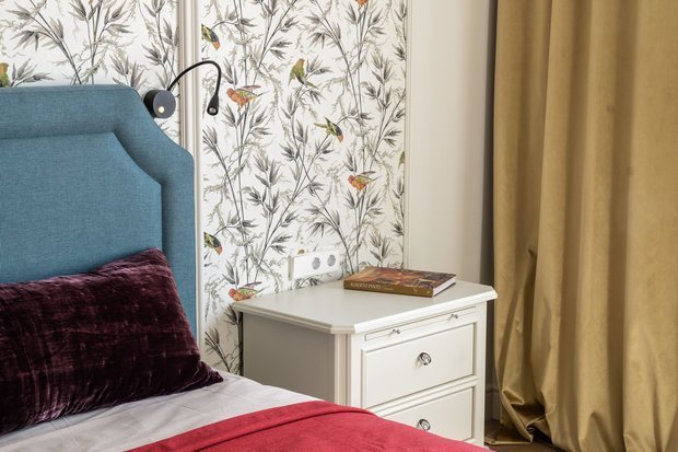 Фотография: Спальня в стиле Современный, Кухня и столовая, Детская, Классический, Квартира, Белый, Проект недели, Москва, Бежевый, Более 90 метров – фото на INMYROOM