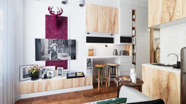 Фотография:  в стиле , Малогабаритная квартира, Квартира, Гид – фото на InMyRoom.ru
