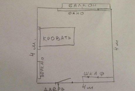 Помогите подобрать интерьер спальни 16 м.кв.