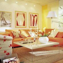 Фотография: Гостиная в стиле Современный, Интерьер комнат, Переделка, Ремонт – фото на InMyRoom.ru