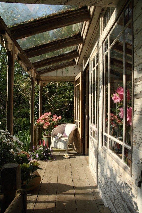 Фотография: Балкон, Терраса в стиле , Дом, Дома и квартиры, Дача, Шебби-шик – фото на InMyRoom.ru