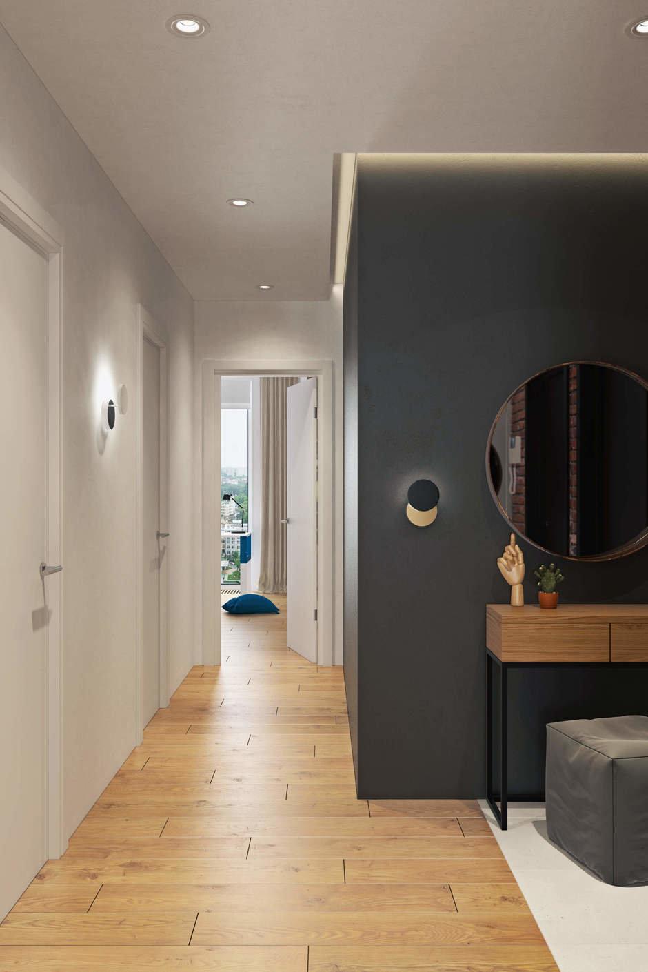 Фотография: Прихожая в стиле Современный, Квартира, Проект недели, Geometrium, Монолитный дом, 3 комнаты, 60-90 метров, ЖК «Арт Casa Luna» – фото на InMyRoom.ru