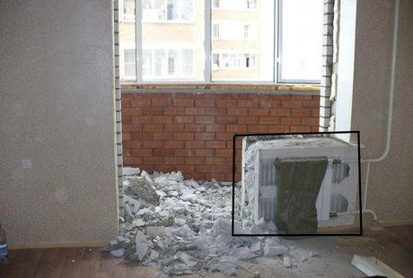 Можно ли сносить кусок стены у выхода на балкон