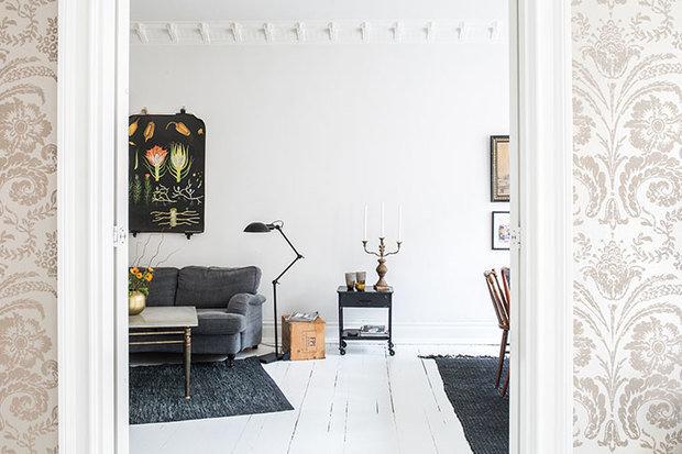 Фотография: Гостиная в стиле Скандинавский, Декор интерьера, Квартира, Швеция, 3 комнаты – фото на InMyRoom.ru