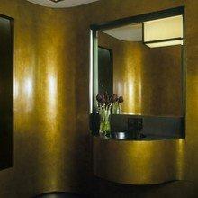 Фотография: Ванная в стиле Современный, Декор интерьера, DIY, Дом, Декор дома, Цвет в интерьере, Обои – фото на InMyRoom.ru